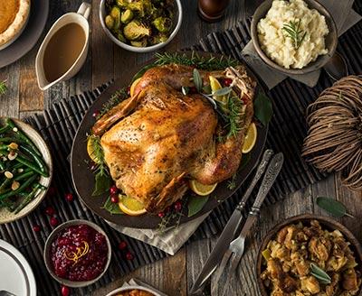Thanksgiving day dinner.