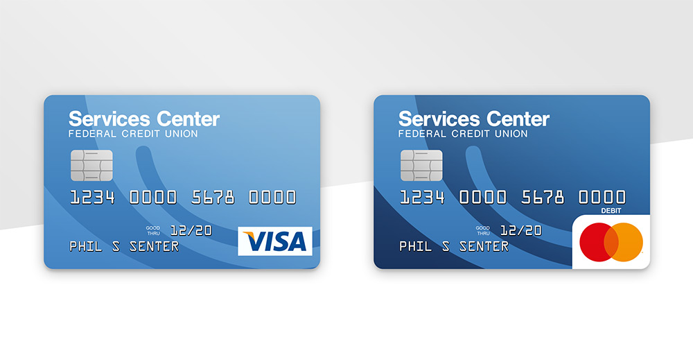 Visa and Mastercard instant-issue cards